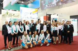 Kompletní tým Siemens. Kolegové z průmyslové divize Digital factory a oddělení Communications.